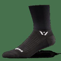 Swiftwick Performance Four Black Sock
