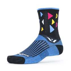 Swiftwick Vision Five Fiesta Black White Sock
