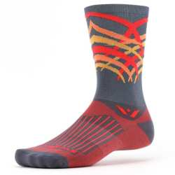Swiftwick Vision Seven Shred Gray Coral Sock