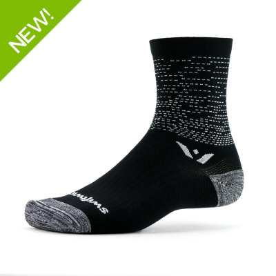Swiftwick Vision Five Dash Black Sock