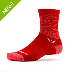 Swiftwick Vision Five Dash Red Sock
