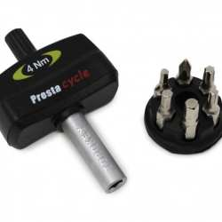 Prestacycle Torque Wrench 4nm TorqKey Mini Preset with 6 Bits & Holder