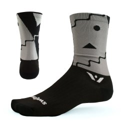 Swiftwick Vision Six Abstract Black Sock