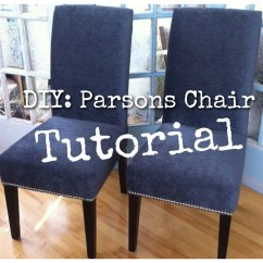How To Make Kitchen Chair Back Covers Led Table And Chairs Diy Re Upholster Your Parsons Dining Tips From A