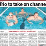 Trio take on channel, Leader Newspaper
