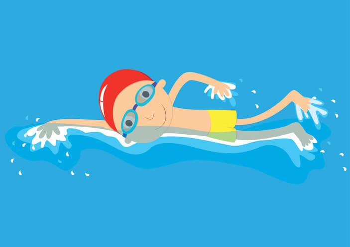 Crawl stroke swimmer