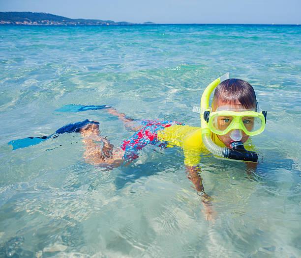 Boy Scuba Diving Picture
