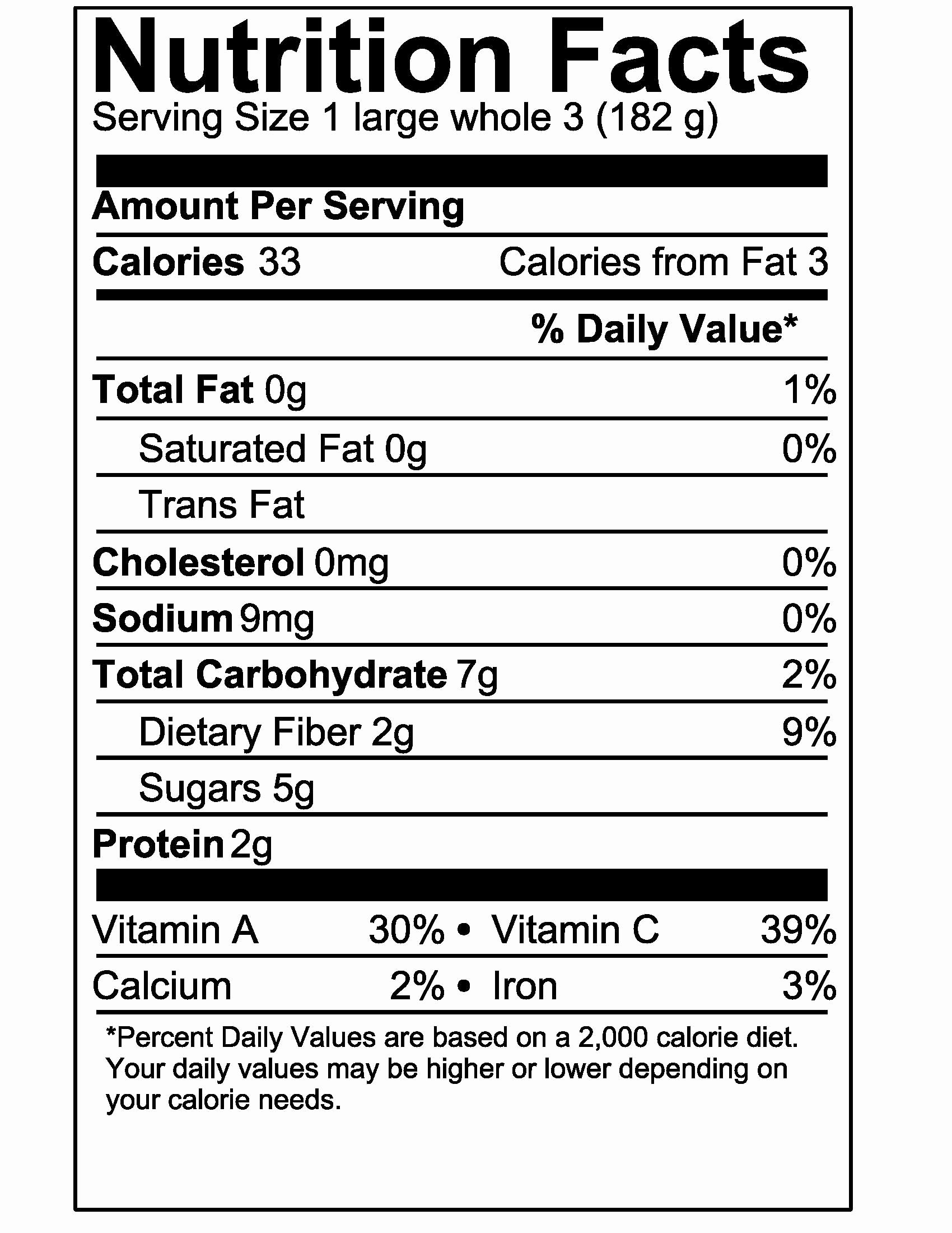 30 Blank Nutrition Label Template