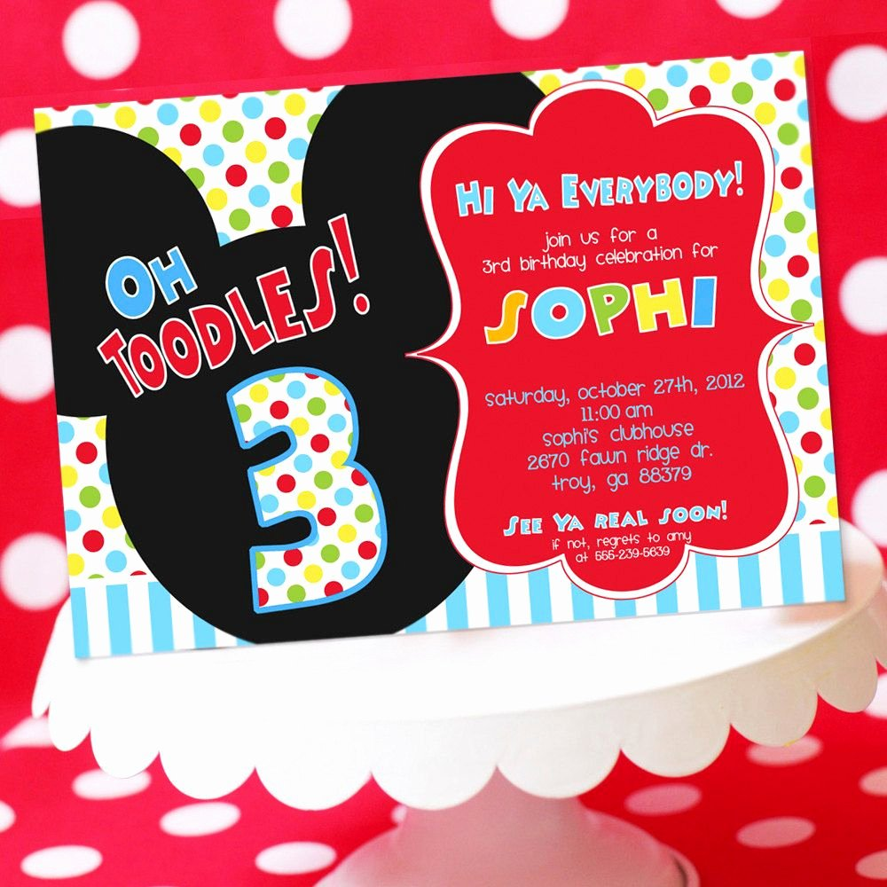 30 Mickey Mouse Invitation Wording Example Document Template