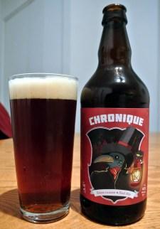 2017-04-22 - 124 - Trefle Noir Le Chronique poured _500beers