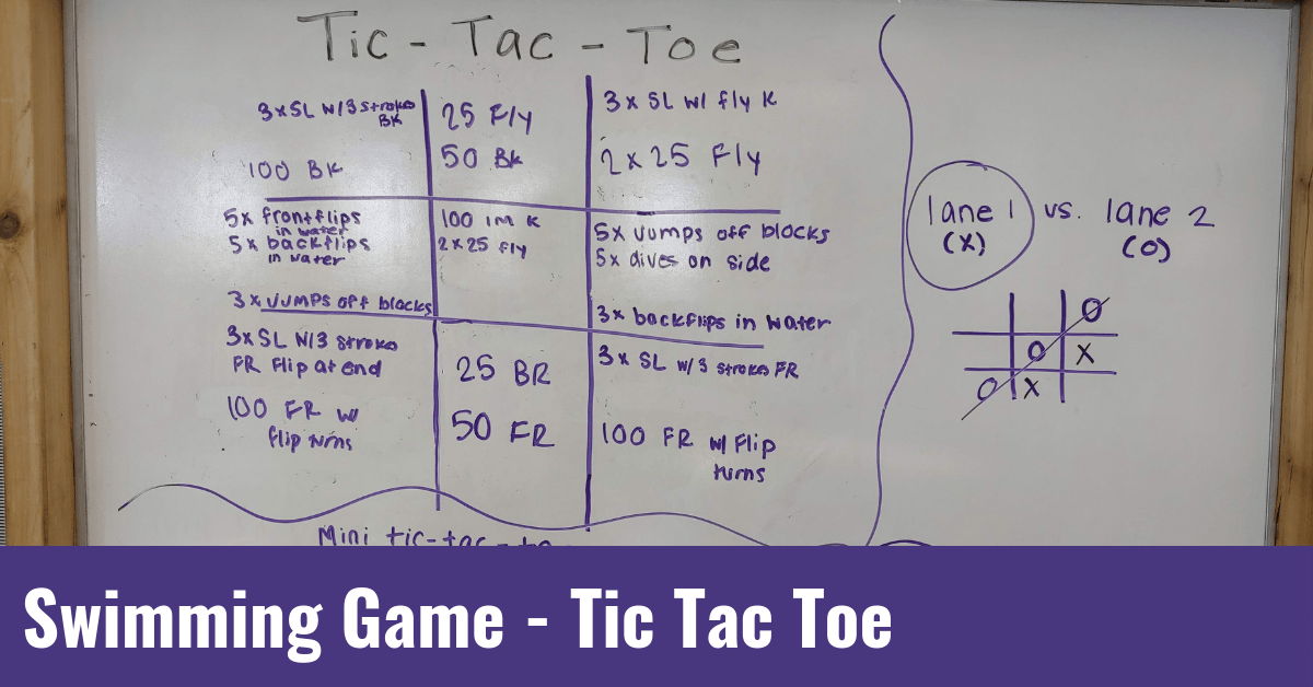 Swimming Game – Tic Tac Toe