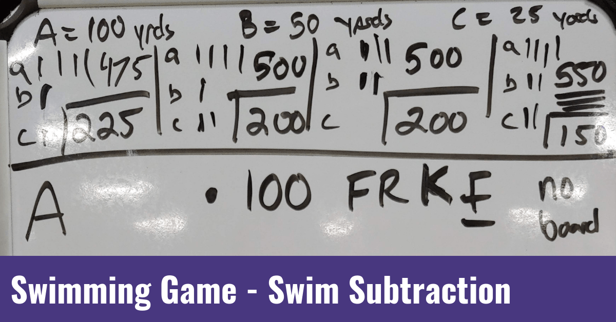 Swimming Game – Swim Subtraction