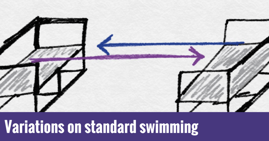 Variations on standard techniques for better swimming