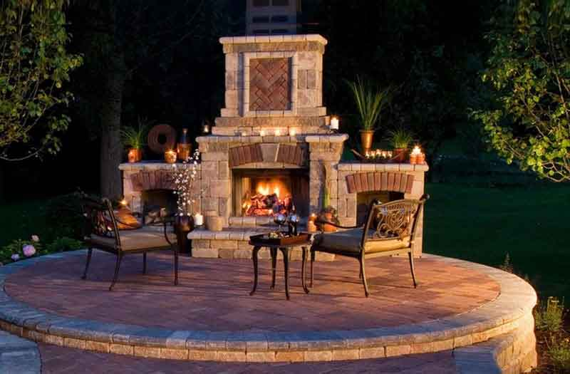 Brick Fireplaces Outdoor Fireplaces | Swimming Pool Now