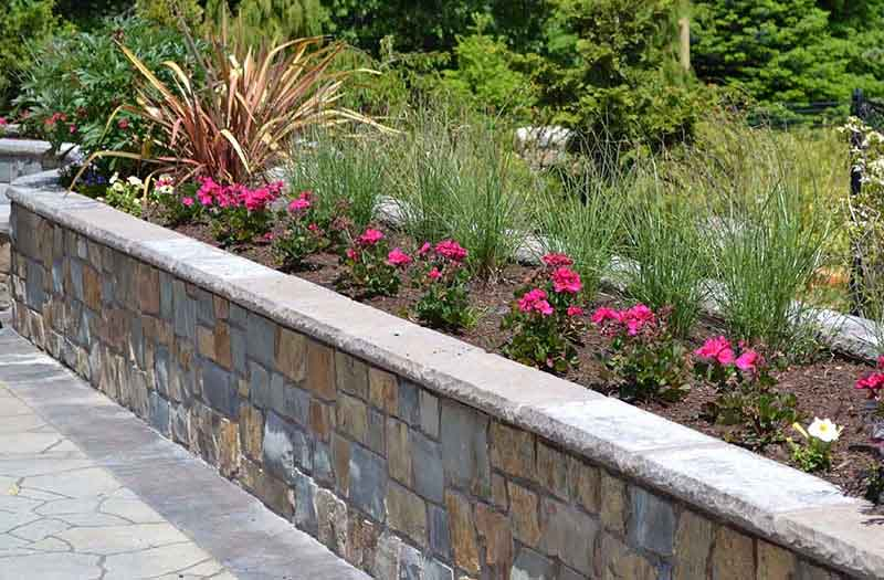 Stone Fireplace Materials Retaining Wall | Swimming Pool Now