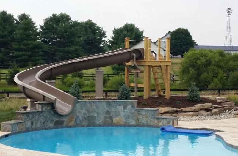 Water Slides  Swimming Pool Now