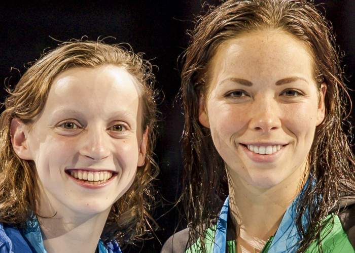 Katie Ledecky and Kate Ziegler