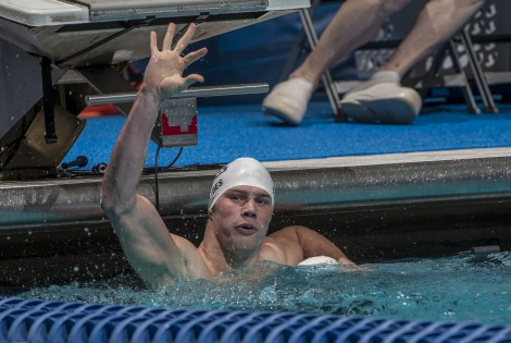 Kevin Cordes sets a new American record in the prelims of the 200 breaststroke.