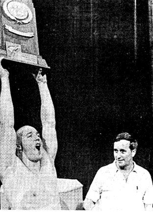 Eddie Reese and Scott Spann Texas NCAA win 1981