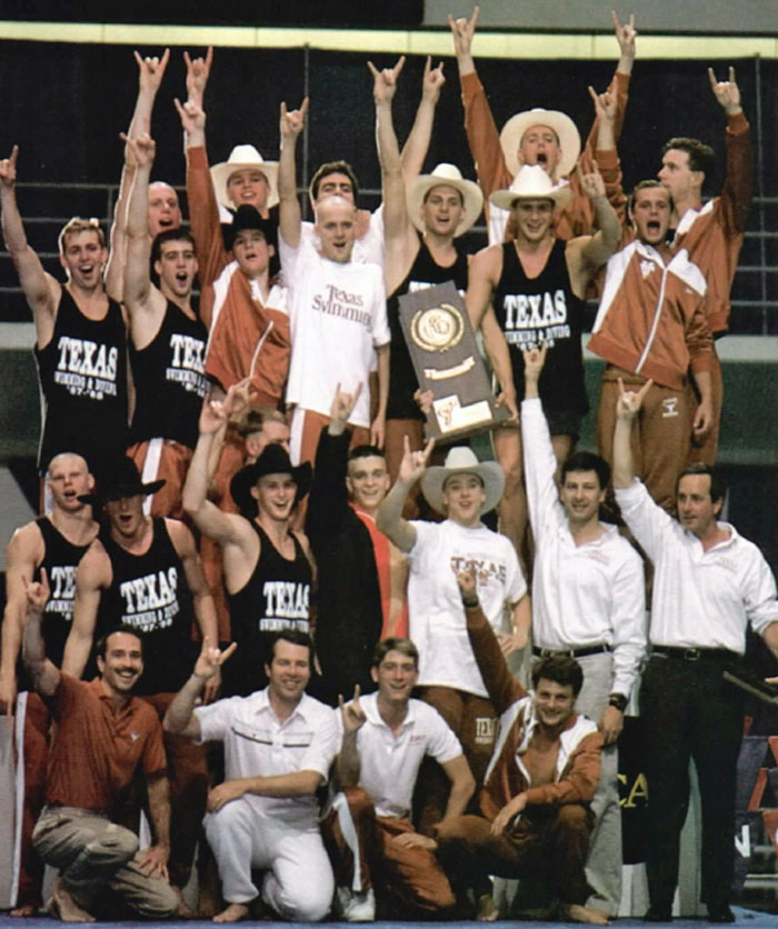 Eddie Reese and Texas team NCAA 1988