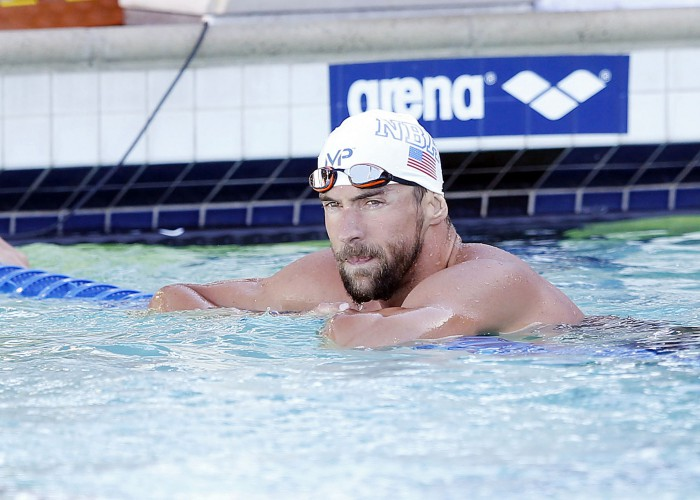 Jun 21, 2015; Santa Clara, CA, USA; Michael Phelps (USA) won the Men's 200IM championship in a time of 1:59.39 during the Championship Finals of day four at the George F. Haines International Swim Center. Mandatory Credit: Bob Stanton-USA TODAY Sports