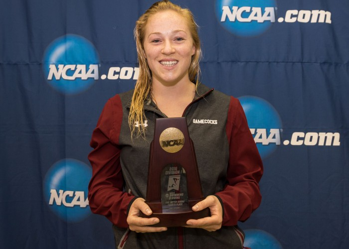 2016.03.17 2016 Womens NCAA Swimming Championships_Julia Vincent South Carolina