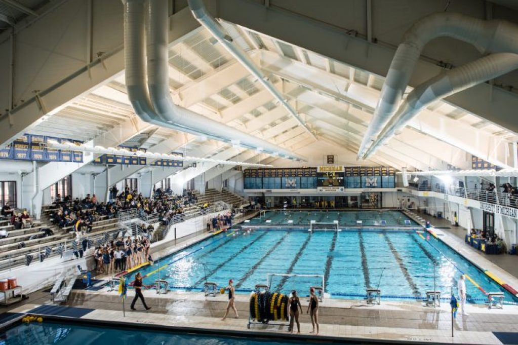 3/4/17 The University of Michigan water polo team defeats UC Davis, 13-7, at Canham Natatorium in Ann Arbor, MI.