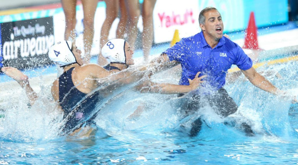 women-final-usa-spain-rachel-fattal-kiley-neushul-coach-adam-krikorian-usa-2017-world-champs