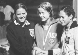 Shirley Babashoff Cornelia Ender and Enith Brigitha 1973