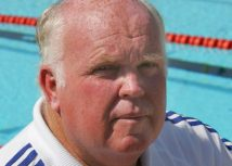 Australian Bill Sweetenham, Performance Director for the Team GB swimming team at the Team GB training camp, in Paphos, Cyprus, ahead of the Athens Olympics August 6, 2004. REUTERS/Toby Melville TM/ - RP5DRIDPTJAA