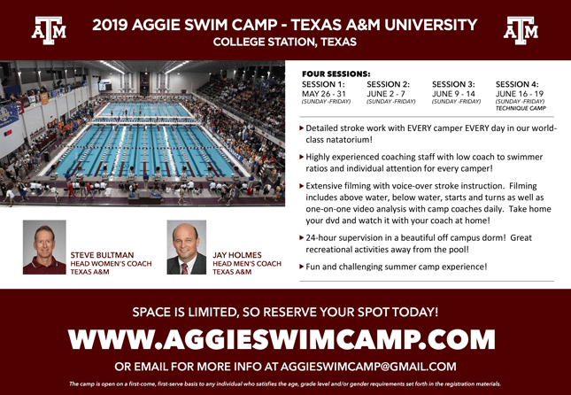 2019 Texas A&M Swim Camp