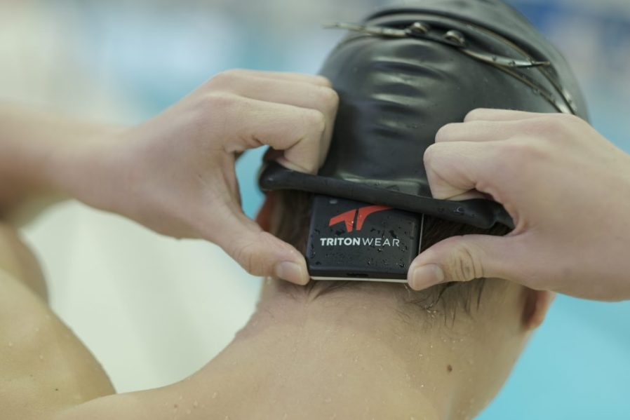 Triton Wear training device on head