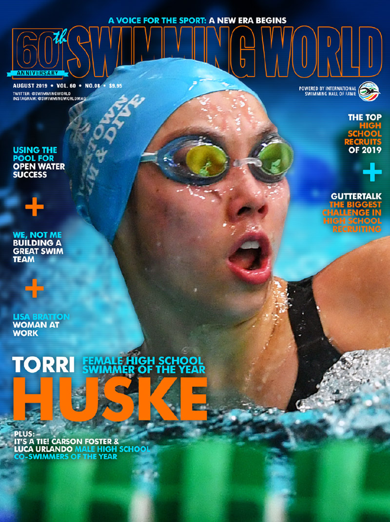 Swimming World August 2019 Cover Torri Huske