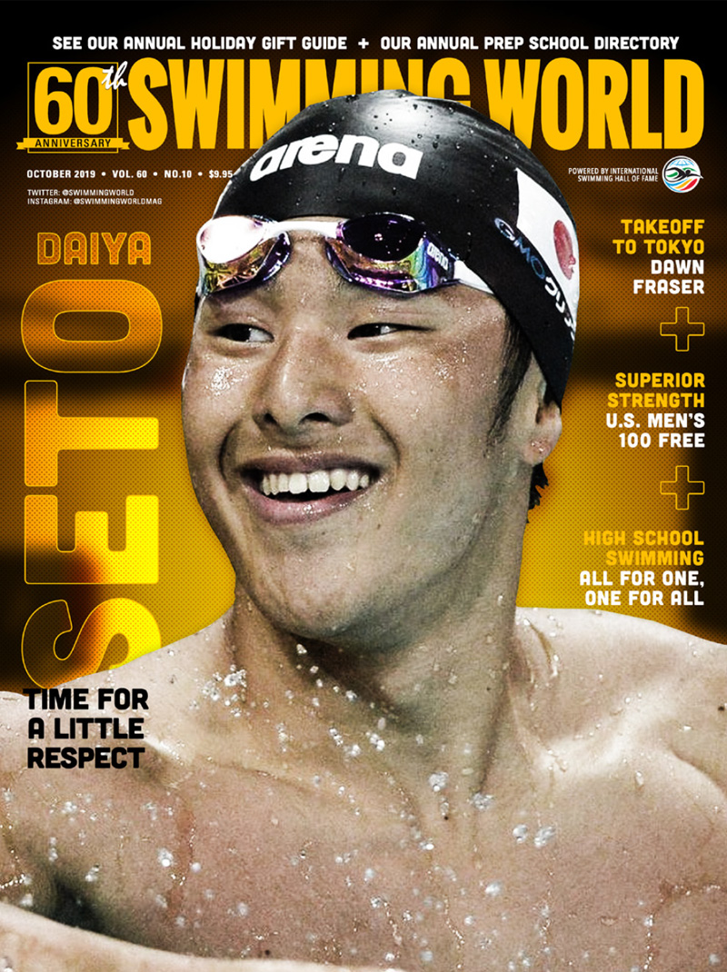 Swimming World October 2019 Cover Daiya Seto