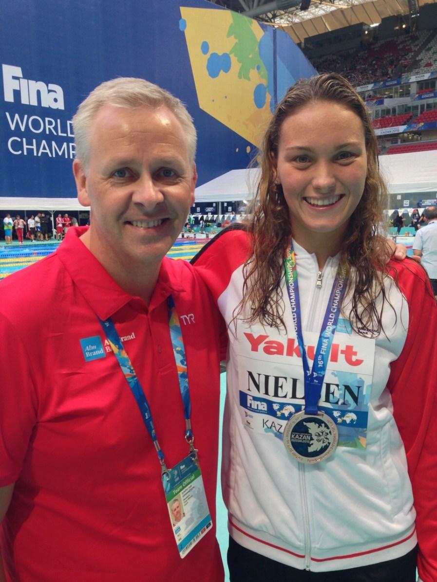 Coach Leifi and Mie Nielsen of Aalborg Swim Team