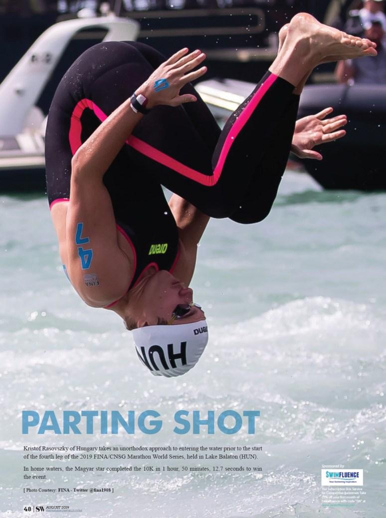 Swimming World Magazine - Parting Shot August 2019 Kristof Rasovszky
