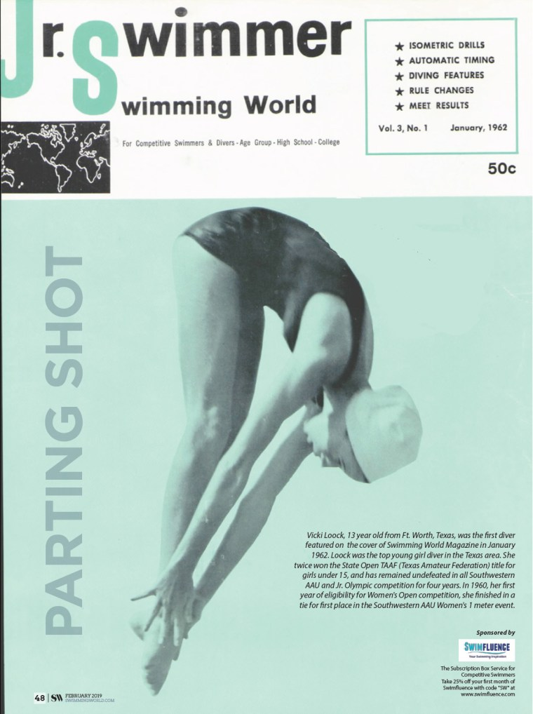 Swimming World Magazine - Parting Shot February 2019 Vicki Loock