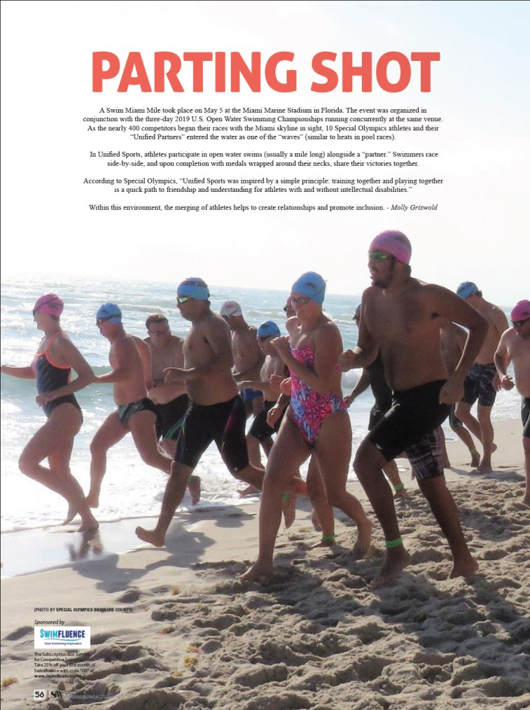 Swimming World Magazine - Parting Shot October 2019 Swim Miami Mile