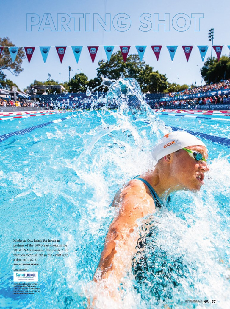 Swimming World Magazine - Parting Shot September 2019 Madisyn Cox