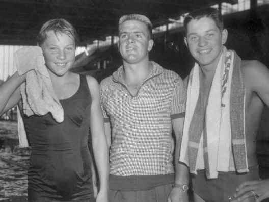 Don Talbot with Ilsa and John Konrads