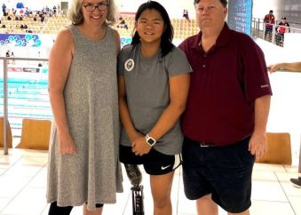 MeiMei White with her parents