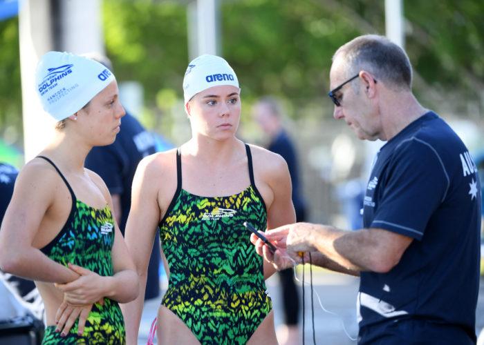Chris Nesbit with Maddie Gough and Kiah Melverton