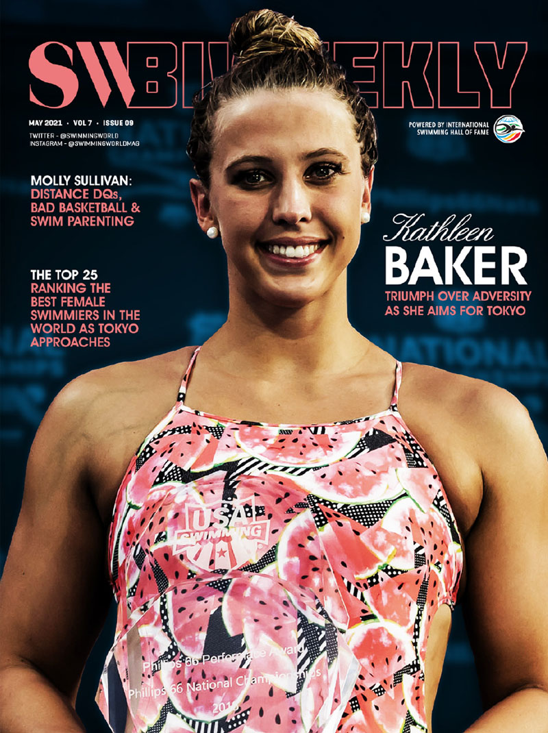 SW Biweekly 5-7-2021 Kathleen Baker - Triumphs Over Adversity As She Aims For Tokyo - COVER
