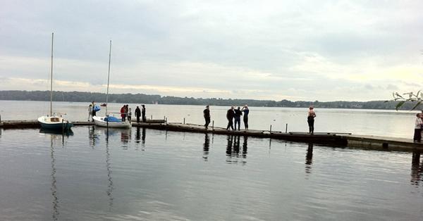 Esrum Open Water 2011: Startområdet i Nødebo