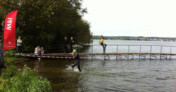 Esrum Open Water 2011: Carsten går i land efter X-treme-turen