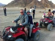 Quad biking to the desert