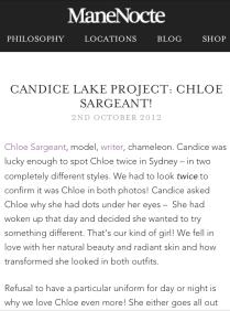 Manenocte Ambassador x Candice Lake campaign project