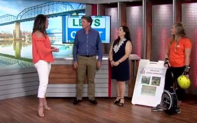 CBS WDEF Channel 12- Let's Chatt with Patrick Molloy on August 6 2018 with Jess Raby