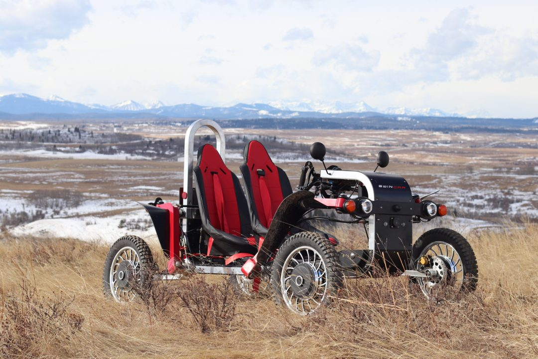 Swincar Canadian dealer Tandem with red and black seats