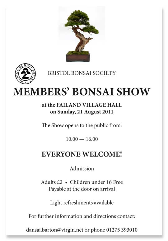 Bristol Bonsai Society Members Show 2011